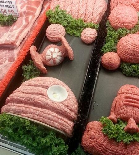Ground Pork Sculpture