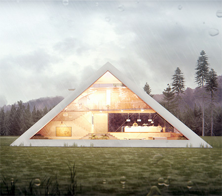 Pyramid Inspired House