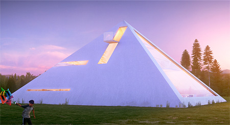 Pyramid House 3D Rendering