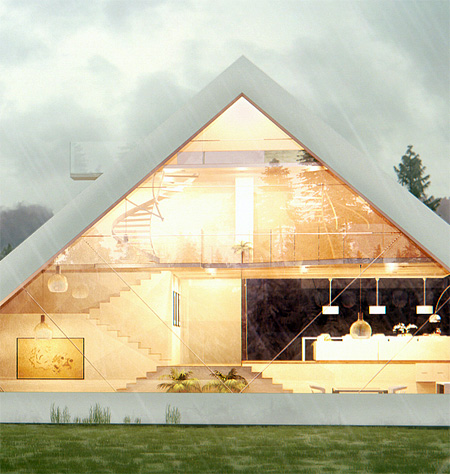 Glass Pyramid House