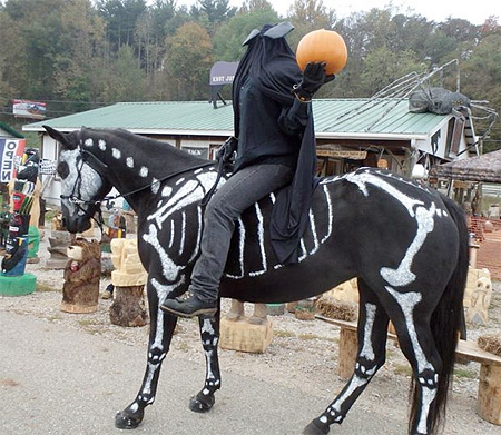 Painted Skeleton Horse