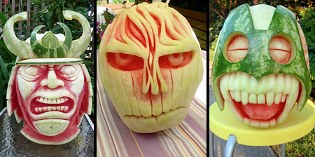 Watermelon Carvings