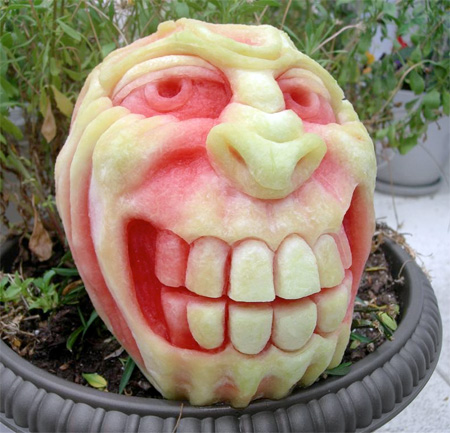 Scary Watermelon Carvings