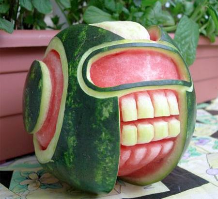 Halloween Watermelon Sculptures