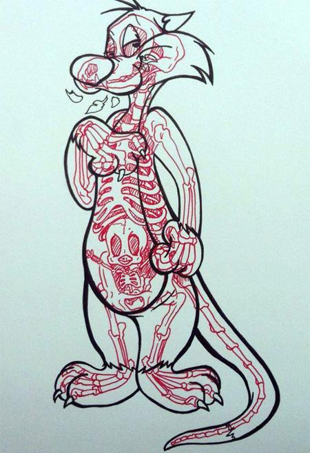 Comic Book Skeletons