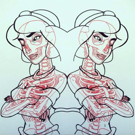 Comic Book X-Ray Skeletons
