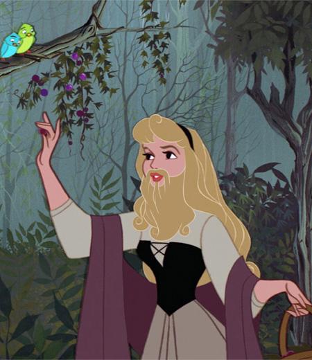 Disney Princesses With Beards