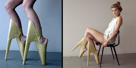 Reversed High Heel Shoes