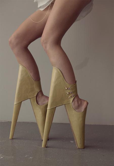Reversed High Heels