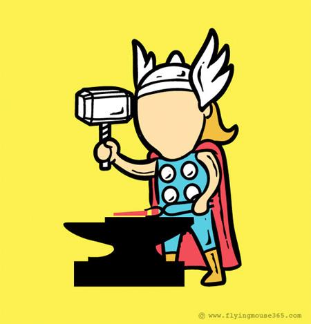 Superhero Jobs by Chow Hon Lam