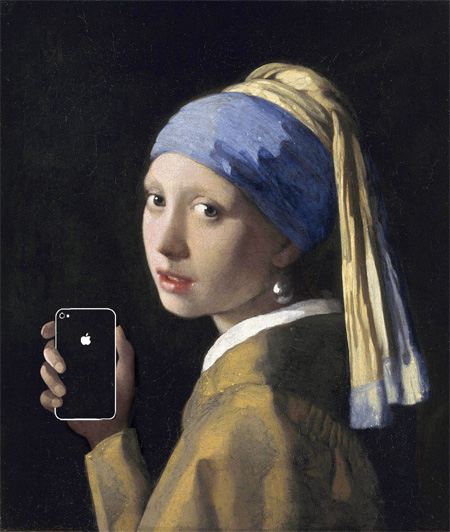 Apple Products in Classic Paintings