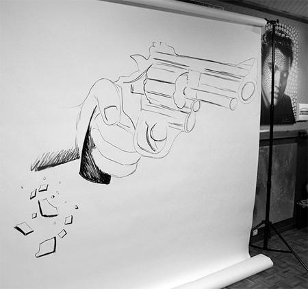 Drawings by Ben Heine