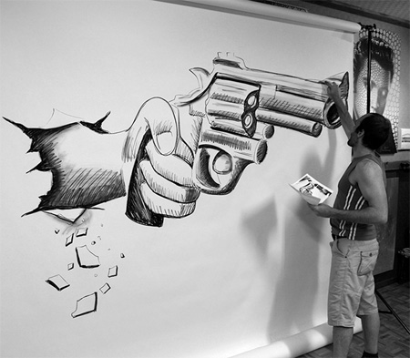 3D Drawing by Ben Heine