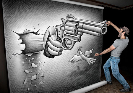 Drawing by Ben Heine
