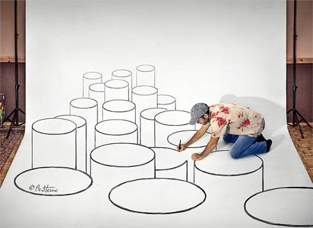 Ben Heine Drawing