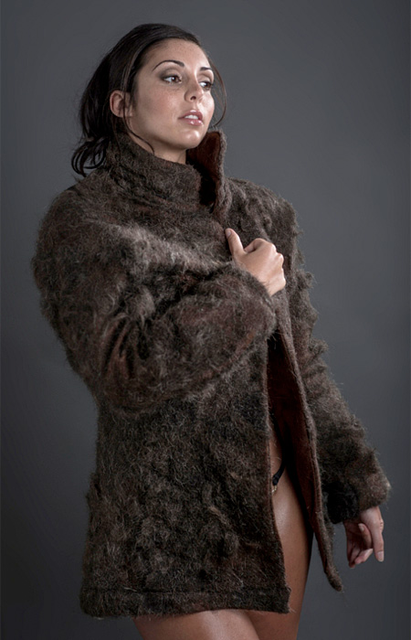 Male Chest Hair Coat