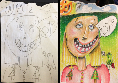 Coloring My Kids Drawings