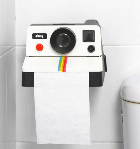 Polaroid Toilet Paper Dispenser