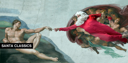 Santa Claus in Classic Paintings