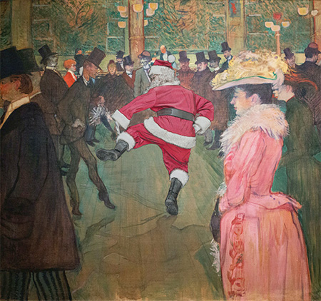 Santa Claus in Iconic Paintings