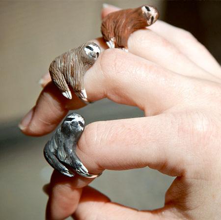 Sloth Rings by Teresa Chadwick