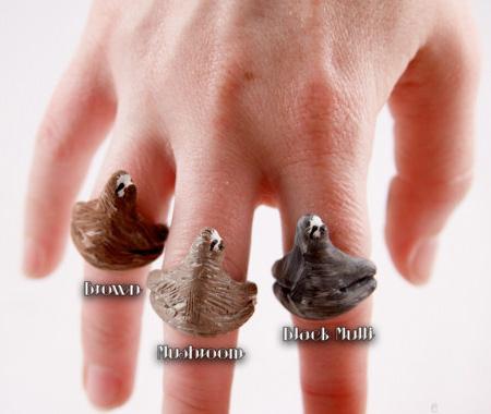 Finger Sloth Rings