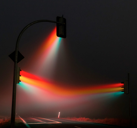 Traffic Lights In the Fog