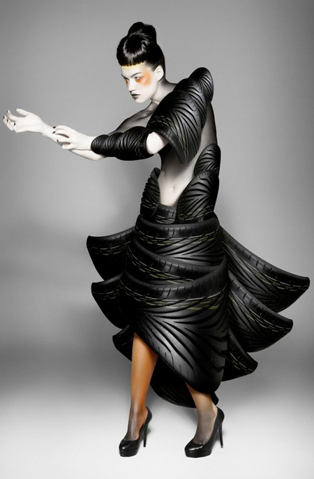 Dress Made of Tires