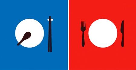 East vs West Illustrations