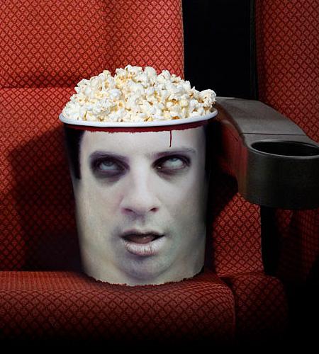 Zombie Head Popcorn