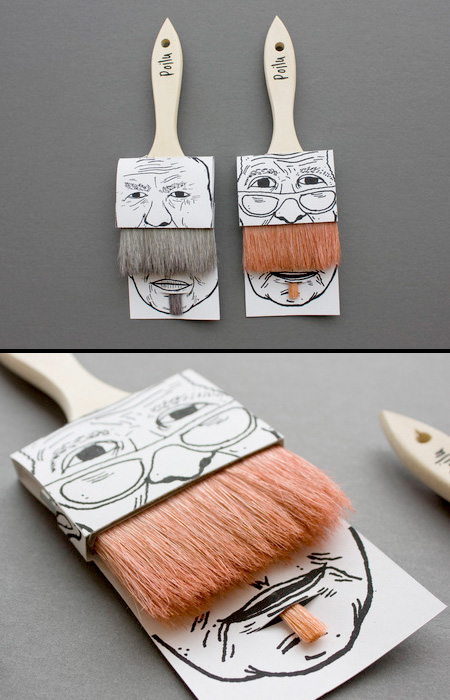 Mustache Paintbrushes