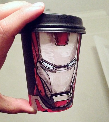 Coffee Cup Art by Miguel Cardona