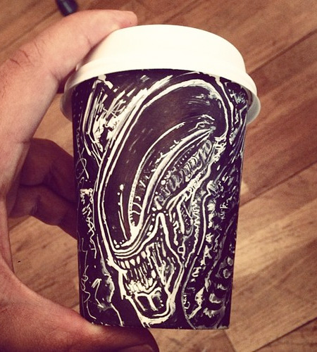 Drawings on Coffee Cups