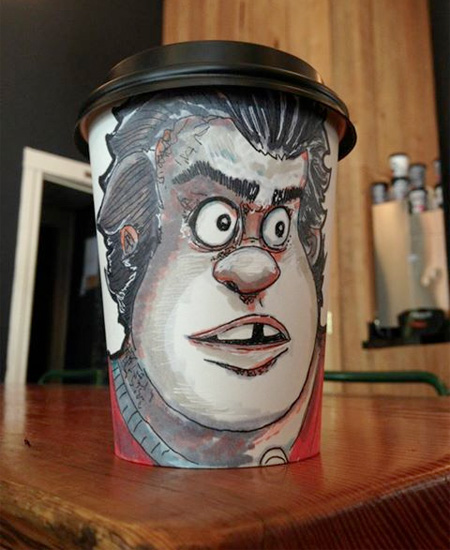 Art on Coffee Cups