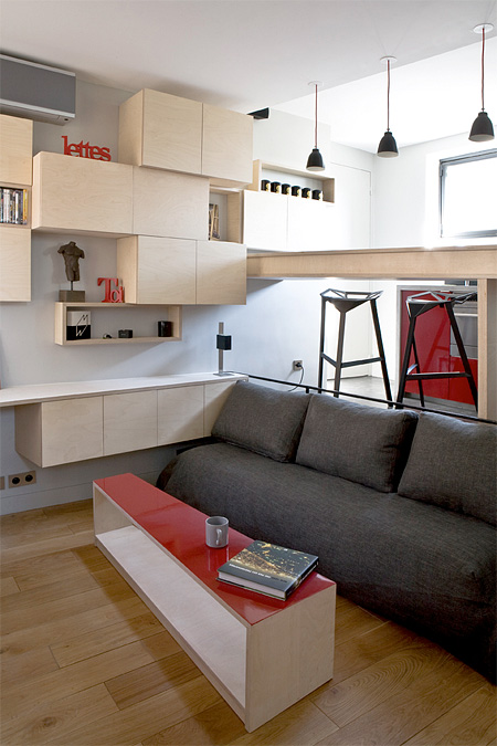 Apartment with Hidden Bed