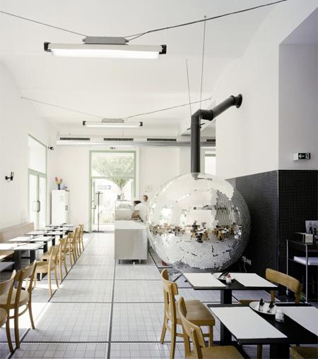 Rotating Disco Ball Pizza Oven