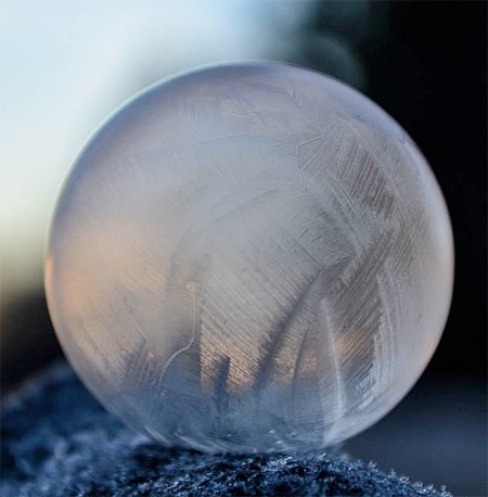 Frozen Soap Bubble Photography