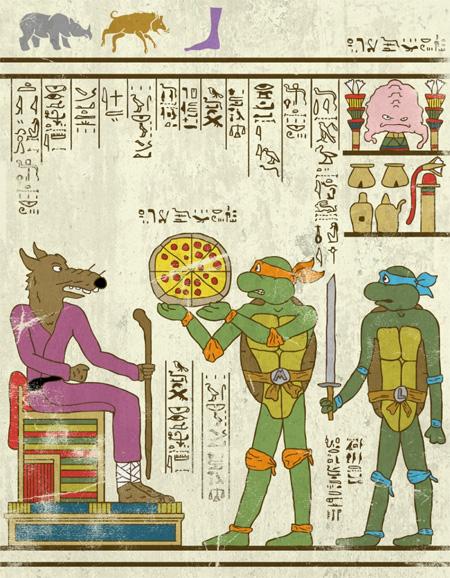 Ancient Drawings of Superheroes