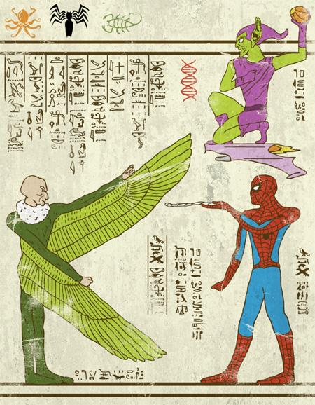 Ancient Paintings of Superheroes