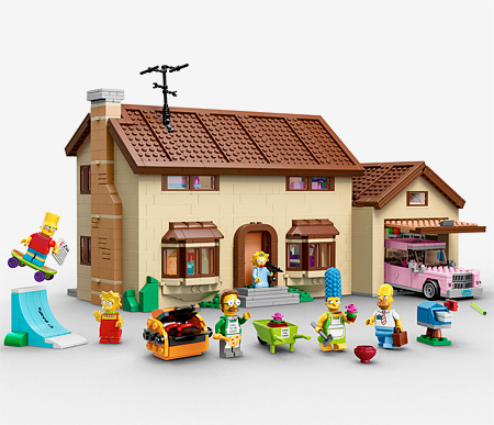 The Simpsons House LEGO Set