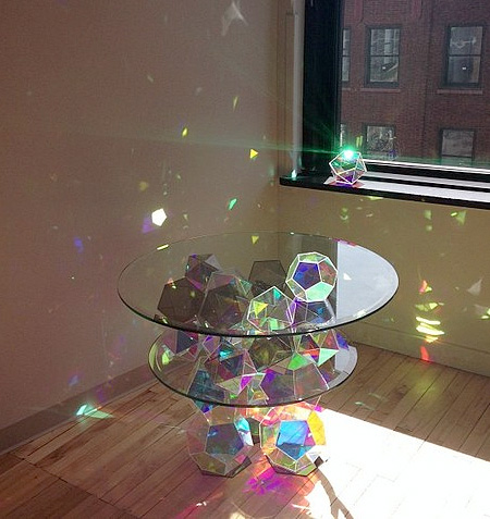 Sparkle Glass Table