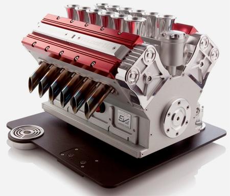 V12 Engine Coffee Machine
