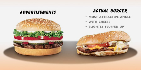Ads vs Real Fast Food