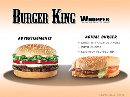 Advertisements vs Real Fast Food