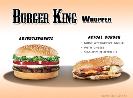 Advertisements vs Real Food