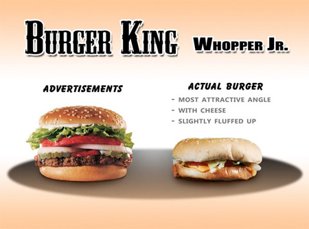 Advertising vs Real Fast Food