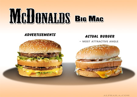 Advertising vs Real Food