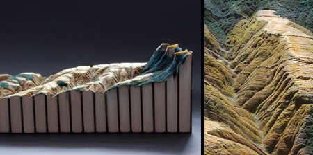 Landscape Carved into Books