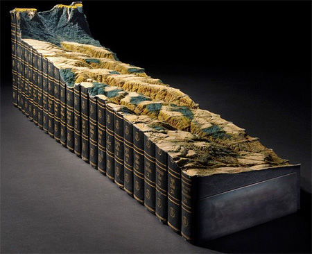 Landscape Carved into Encyclopedia Britannica