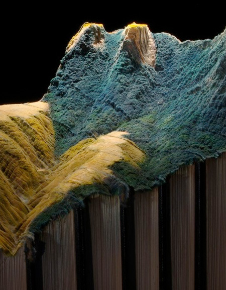 Mountains Carved into Books
